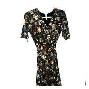 GILLI Knit Faux Wrap Dress 3/4 sleeve Size Large